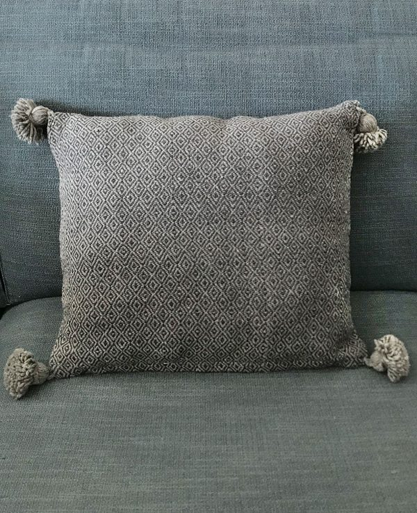 Coussin Marocain Taousate Gris