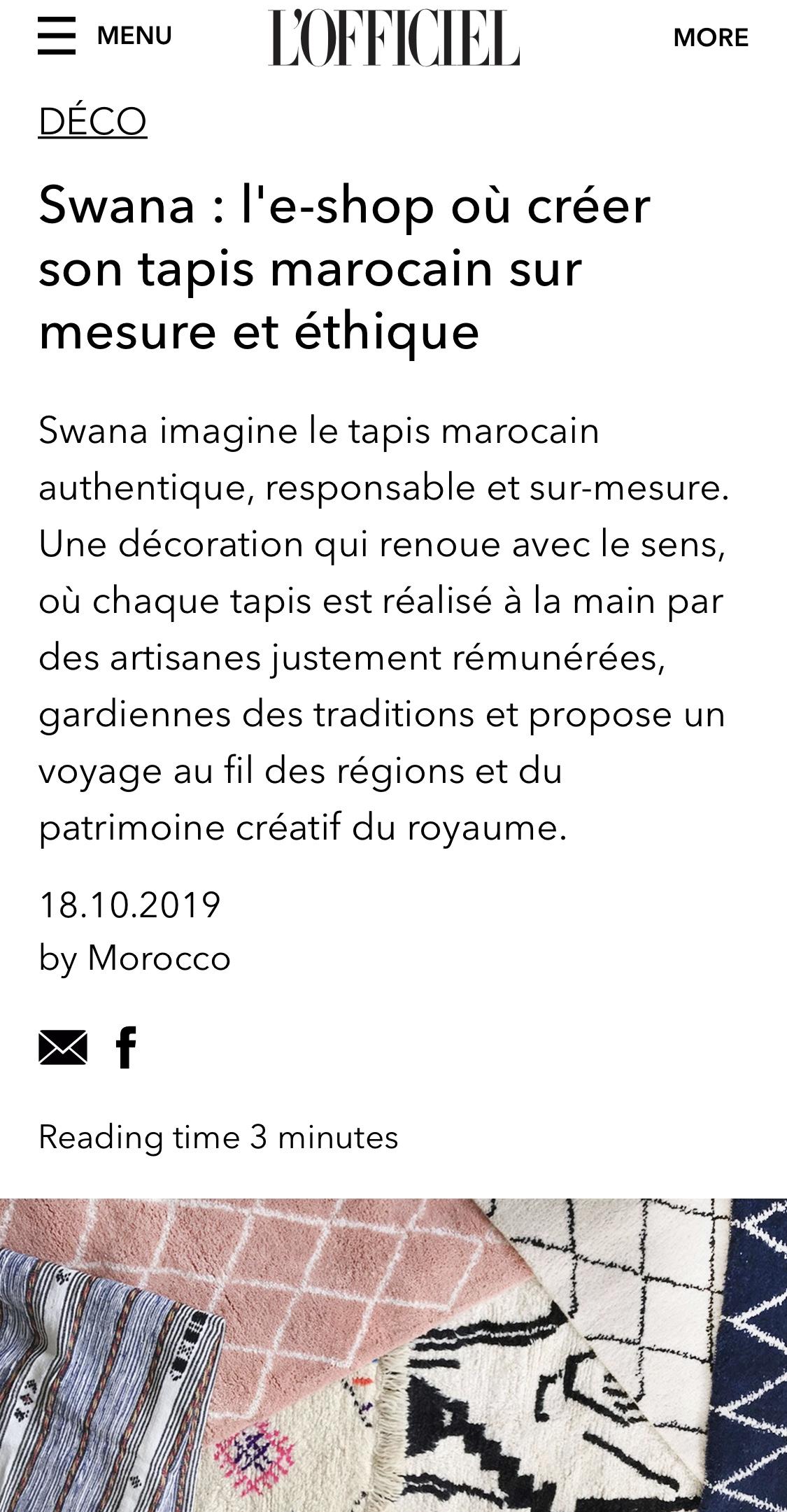 L'Officiel Belgique Swana
